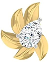 TBZ - The Original Fancy 18k Yellow Gold and Diamond Nosepin