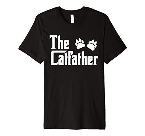 Herren Herren THE CATFATHER T-Shirt Father 's Day Shirt Cat lover Geschenke Dad