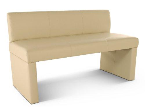 SAM® Sitzbank Marseille 126 cm in creme, komplett bezogen, angenehme Polsterung, Sitzfläche für 2 Personen, mit durchgehender Rückenlehne