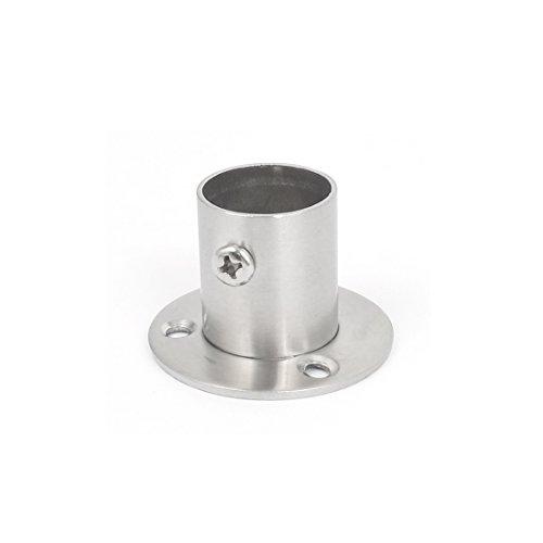 Sourcingmap® Closet Kleiderschrank 22mm Dia Rohr Kleiderstange Spurstangenkopf Unterstützung Halterung (Rohr-flansch-tool)