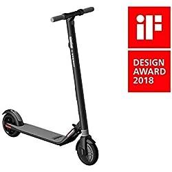 ES1 de Segway - Patinete eléctrico eScooter, 20 km/h, 12.4 mph, 11.3 kg, faros LED, batería extraíble, control a través de la App