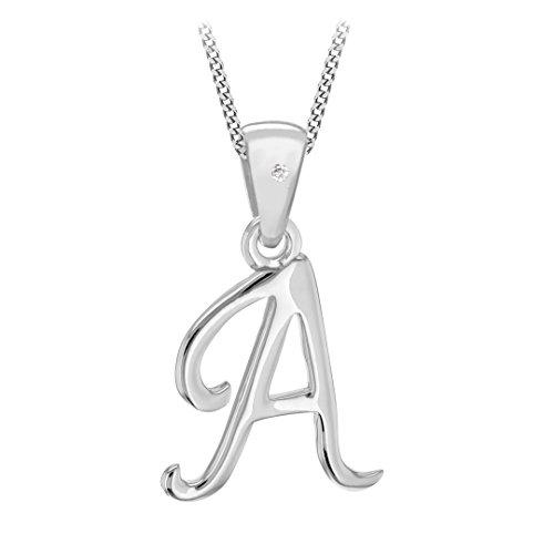 Tuscany Silver Cadena con colgante de plata, diamante, 46 cm