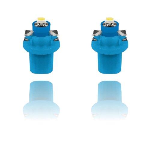 58469 - SMD LED Ampoule Lampe voiture auto Blue T5 B8.5D BAX10D 12V tachymètre instrument d'éclairage