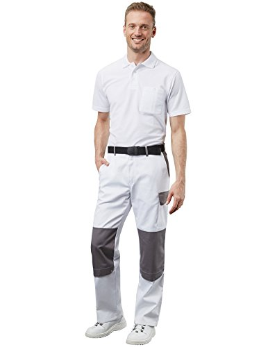 PIONIER WORKWEAR Herren Poloshirt-Piqué kurzarm in marineblau (Art.-Nr. 2711) Weiß
