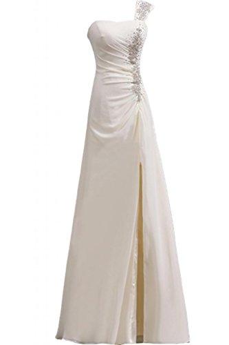 Sunvary-One, tracolla vestiti da sera anteriori laterali Pageant Gowns Party Dresses-Abito da sera Ivory