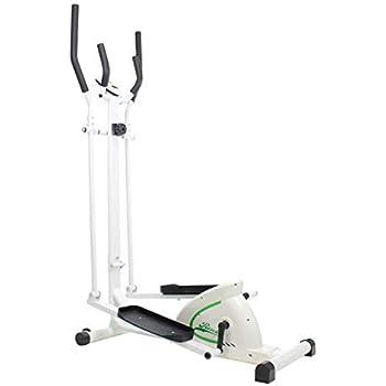 Riscko Bicicleta elíptica con regulador de Resistencia, Pantalla LCD, Pedales y agarres Antideslizantes.