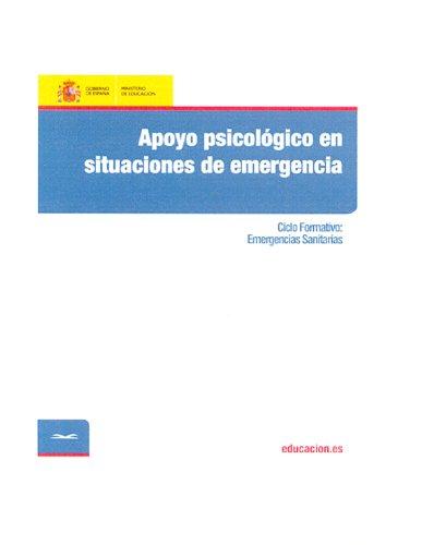 Apoyo psicológico en situaciones de emergencia. Ciclo formativo: Emergencias Sanitarias por María Paz Martín Diaz