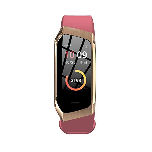 Herzfrequenz Armband Bunten Bildschirm GPS Motion Track Schritt Wasserdicht Smart Armband,Pink