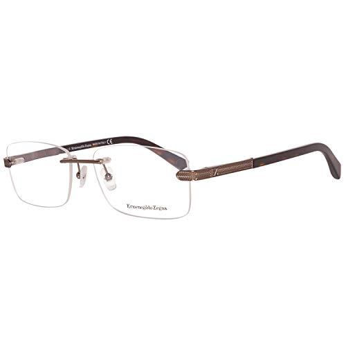 Ermenegildo Zegna Herren EZ5010 Brillengestelle, Braun, 56