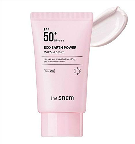 [The Saem] Eco Earth Power Pink Sun Cream SPF50+ PA++++ 50g / K-Beauty -