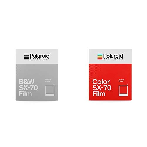 Polaroid Originals - 4676 - Sofortbildfilm Schwarz und Weiß fûr SX-70 Kamera &  Originals - 4676 - Sofortbildfilm Frabe fûr SX-70 Kamera