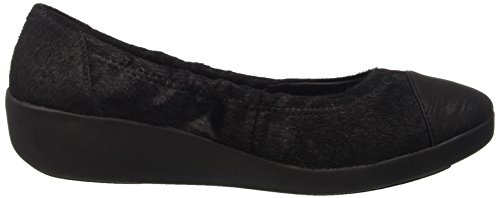 FitFlop Damen F-Pop Tm Ballerina Interest Offene Ballerinas, Various Nero (Black)