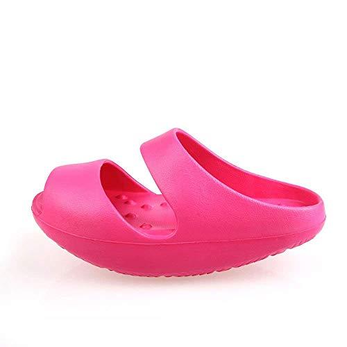 Oudan Mujeres Stovepipe Pierna Adelgazante Belleza Pie Eva Body Shaper Zapatillas Sandalia Gimnasio Postparto Tonificación Zapatos (Color : Rosado, tamaño : M (38-39))