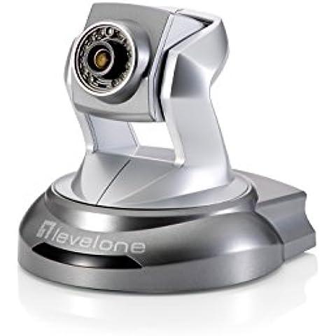 LevelOne FCS-6020 - Cámara de vigilancia (IP, Interior, Plata, 1920 x 1080 Pixeles, H.264, M-JPEG, MPEG4, 2
