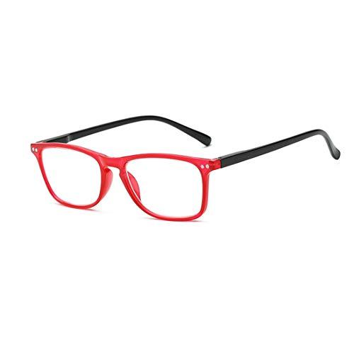 Aiweijia Lesebrille Federscharnier Männer und Frauen Retro Lesen Brille +1.0 bis 4.0