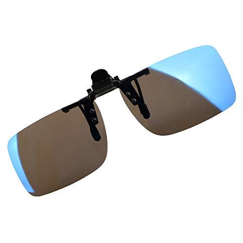 iTimo Anti-UVA-/UVB-Autofahrerbrille, Nachtsicht, Fahrerbrille, Fahrerbrille, zum Aufstecken, polarisierte Sonnenbrille, Autozubehör (Blau)