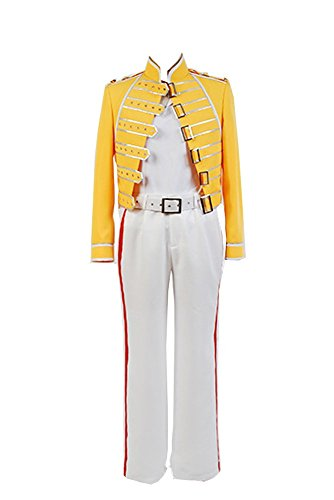Queen Lead Vocals Freddie Mercury Yellow Jacke Kostüm Cosplay Herren L