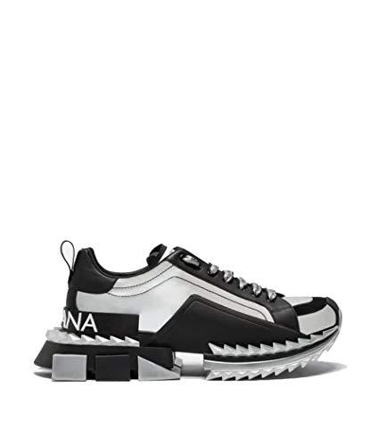 DOLCE E GABBANA Herren Cs1649ak3378b808 Schwarz Leder Sneakers Dolce Gabbana Sneakers