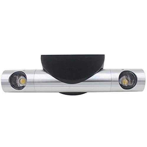 Familien-licht-stehlampe (AK Led Wandleuchte Doppel Licht Kopf Einstellbare Rotation Wandleuchte Silber Aluminium Wandleuchte für Schlafzimmer Wohnzimmer Outdoor Gang Korridor,Weißes Licht,2W)