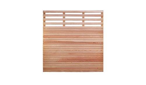 meingartenversand.de Douglasienzaun Sichtschutz Gartenzaun Maß 180 x 180 cm (Breite x Höhe) mit Rhombuslatten Füllung aus naturbelassenem Douglasie Holz Eifel