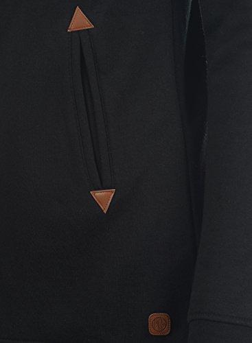 DESIRES Vicky Straight-Zip Damen Lange Sweatjacke Kapuzenjacke Sweatshirtjacke Mit Kapuze Und Fleece-Innenseite, Größe:S, Farbe:Black (9000) - 6