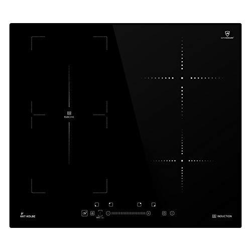 Induktionskochfeld 59cm (Autark, 7kW, 9 Stufen, 4 Zonen, Flex-Zone, Rahmenlos, TouchSelect Sensortasten, Booster, LED-Anzeige, BBQ-Funktion) IND5901FZ - KKT KOLBE