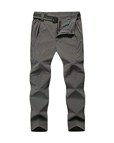 Yonglan Hommes Pantalons D'e térieur Imperméable Respirant Escalade Randonnée Pantalons avec Doublure Coupe-Vent Kaki 4XL