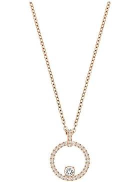 Swarovski Damen-Kette mit Anhänger Creativity Circle Halskette Kristall transparent 38 cm - 5202446