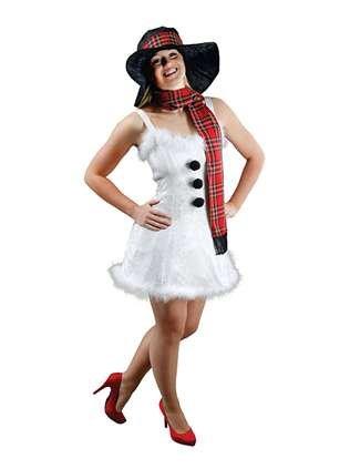 Snowgirl Kostüm - Snowgirl - Schneemann - Adult Kostüm - One Size