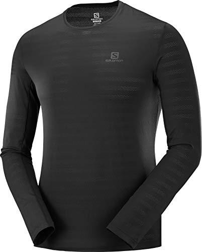 SALOMON Herren XA LS Tee Langarm-Sportshirt, Schwarz (Black), L