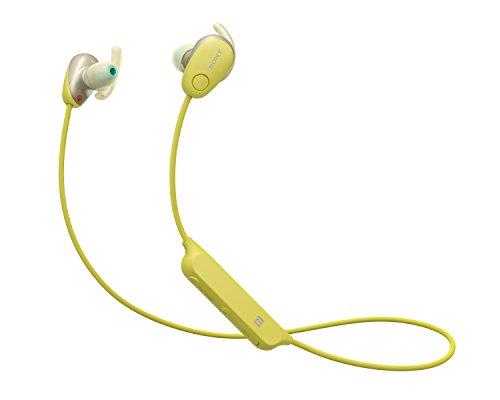 Auriculares amarillos con micrófono - inalámbricos