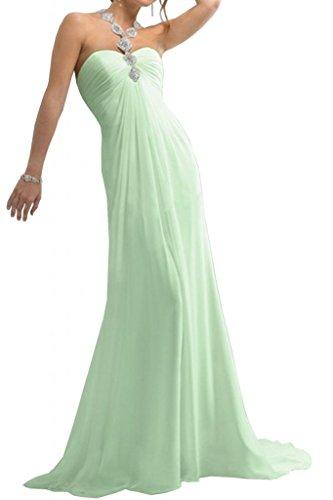 Toscana sposa dall'effetto Empire Chiffon stanotte vestimento un'ampia Party dal giovane sposa per abiti da sera mode ball Salbei