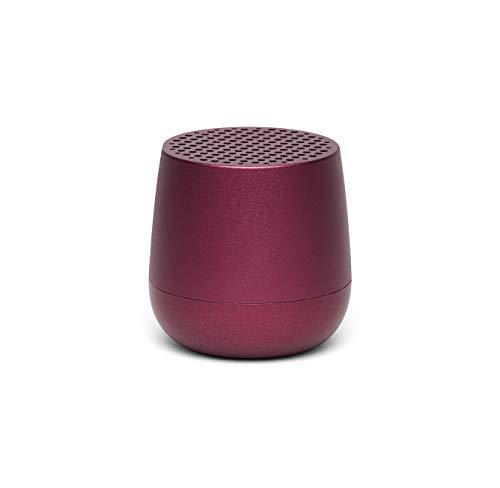 Lexon MINO Mini-Bluetooth-Lautsprecher TWS mit Freisprechanlage versch. Farben Dunkelrot - Dunkelrot Farbe