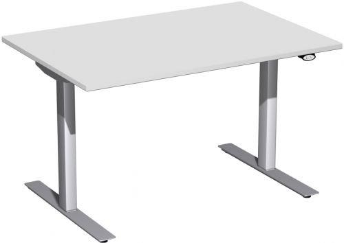 Elektrisch höhenverstellbarer Schreibtisch 120x80x68-116cm, Lichtgrau