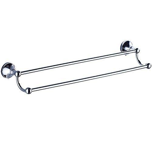 GuoEY Die Badezimmer Zubehör Verchromen Tür Copper-Towels zu Double Single Bar (Bar Load Single)