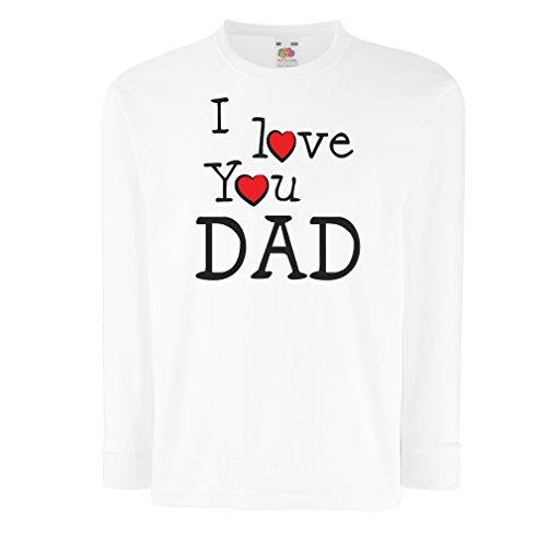 6f02e6d8f151b lepni.me Bambini t-Shirt con Maniche Lunghe Io Ti Amo papà - per