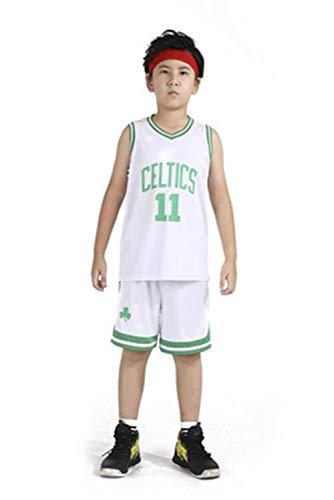LZNK Kinder Celtic No. 11 Westbrook Nachrichten Swingman Jersey NBA Basketball Uniform Basketball Trikots Set-White-M (Jersey White Celtics)
