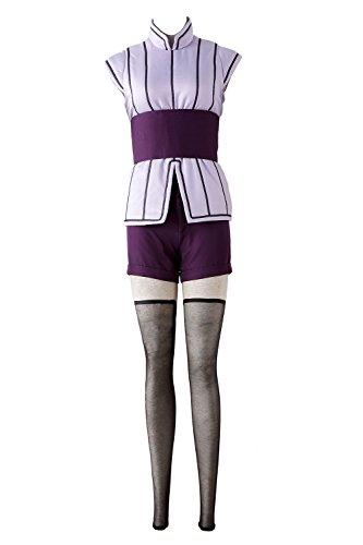 Chong Seng CHIUS Cosplay Costume Hidden Leaf Ninja/Shinobi Hyuga Hinata Outfit (Hinata Cosplay Uk)