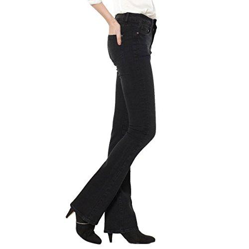 R Essentiel Donna Jeans Bootcut, Vita Leggermente Bassa Taglia 32 Nero