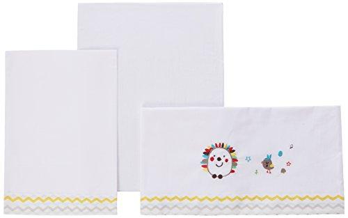 Pirulos 00113501 - Sábanas, diseño espin, 50 x 80 cm, color blanco