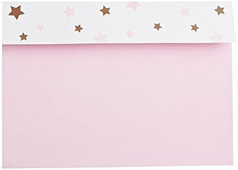 Mara-mi Rose moderne étoiles Peek-A-Boo Imprintable Invitation, 10-count (accessoire mixeur)