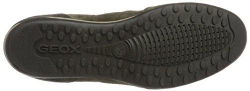 Geox Herren U Wells A Sneaker Braun (Dk Taupe/Anthracite)