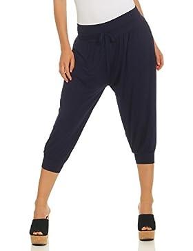 ZARMEXX Pantalones Capri Mujer Pantalones Harem Estilo Verano Pantalones Knickerbockers Aladdin Pantalones Yoga...
