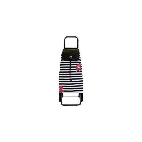 Rolser - imx058marina - Poussette de marché 2 roues 43l noir/blanc imax