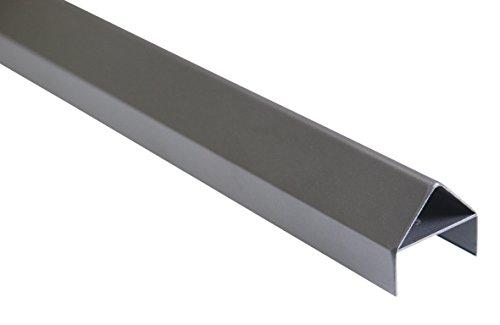 greemotion 429199 Leiste, Abschlußleiste für Schrägwände 133 cm, Aluminium, anthrazit, 4,9 x 4,5 x 133 cm, schwarz