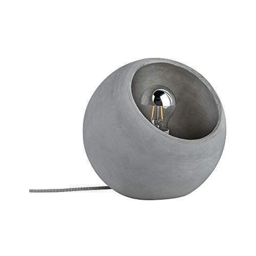 Paulmann 79663 Neordic Ingram Tischleuchte max. 1x20W Tischlampe für E27 Lampen Nachttischlampe Grau 230V Beton ohne Leuchtmittel (Beton Tisch)