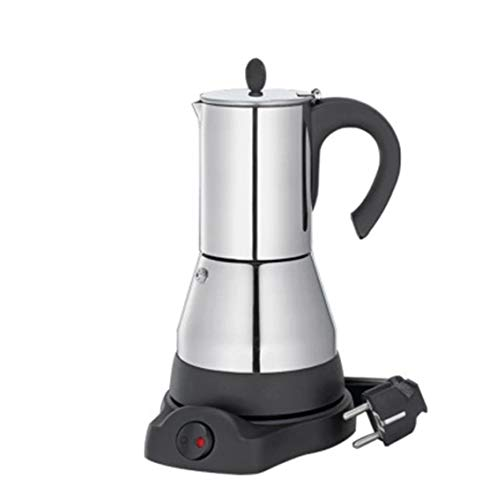 LY CROWM Edelstahl Moka Kaffeemaschine Teekanne Elektrische Moka Kaffeemaschine Mokka Herd ohne Kunststoffkontakt, Mokka-Maschine, Espressomaschine, Kaffeemaschine,200ML