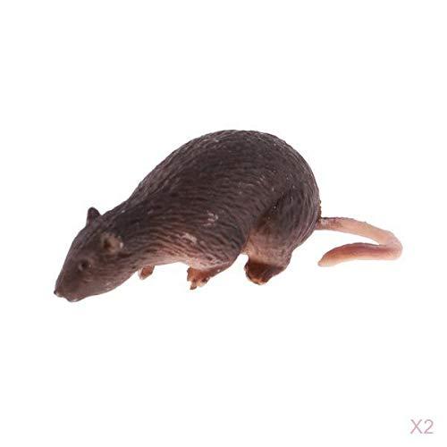 Fenteer 2 PCS 1/6 Miniatur Ratten Maus Modell für 12 '' Action Figuren