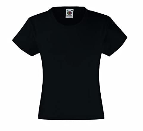 Fruit of the Loom Girls Value T-shirt Black - 12/13 [Apparel]