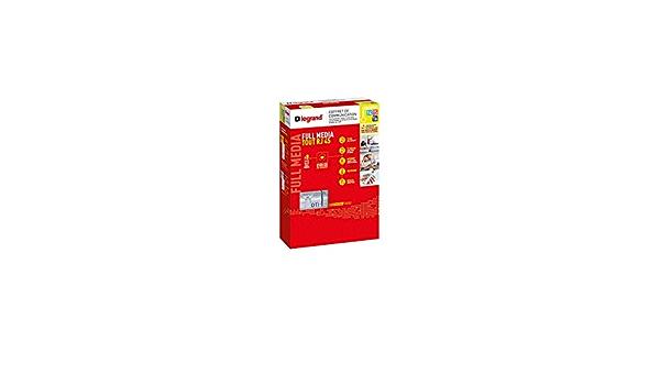 Kit pour /Écran Plat Legrand 097734 Cache C/âbles Multim/édia Noir